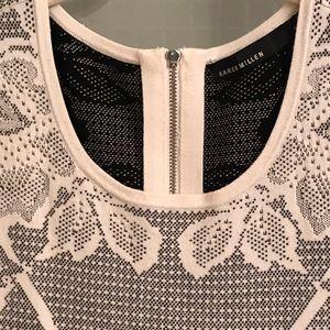 Karen Millen Bodycon Knit Dress Back Neck Zip M